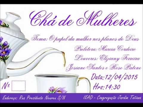 Convite Chá Pra Mulheres