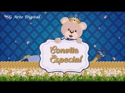 Convite Animado Ursinho Principe