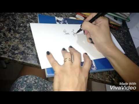 Letra Bonita Escrevendo Convites