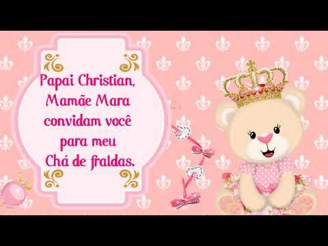 Convite Animado Chá De Bebê Ursinha Princesa Da Heloísa Amostra 1