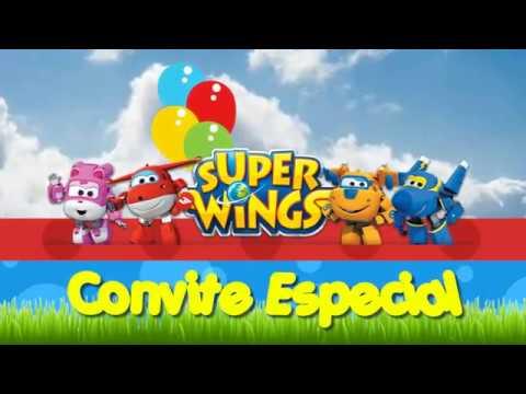 Convite Animado Super Wings
