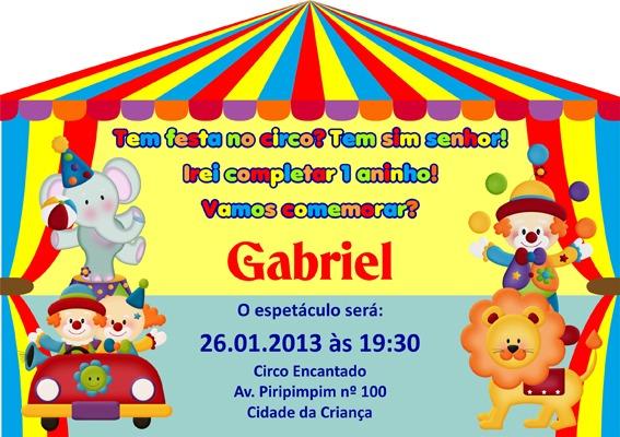 Convite Tenda De Circo 14x20cm