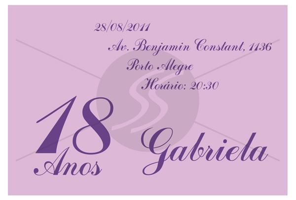 Convites Para 15 Anos M1743