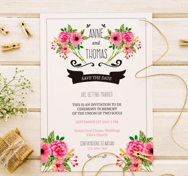 Convite De Casamento Online Para Imprimir
