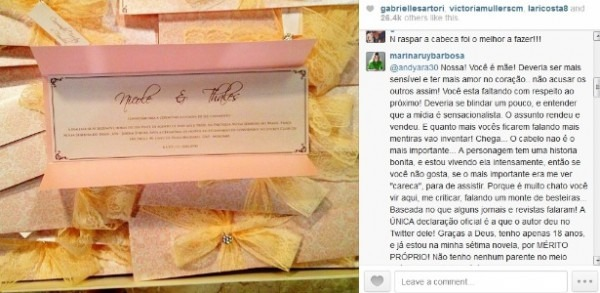 "Marina Ruy Barbosa Se Irrita No Instagram  ""se Só Queria Me Ver"
