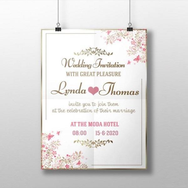 Convite De Casamento Modelo Para Download Gratuito No Pngtree