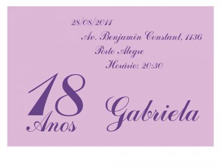 Convites Para 15 Anos M13348
