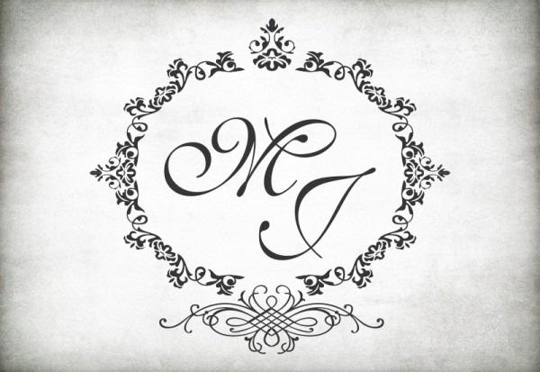 Monogramas Para Convites De Casamento