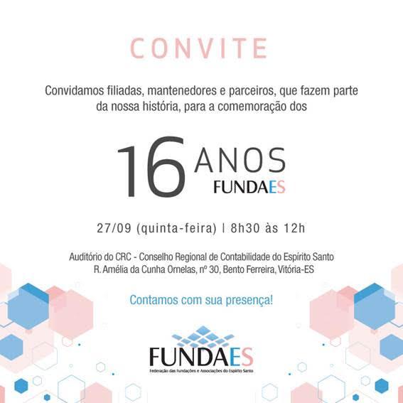 Convite  16 Anos Fundaes