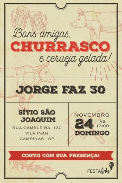Convite Churrasco