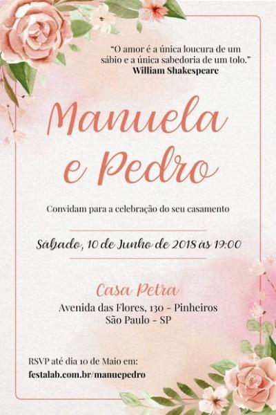 Convite De Casamento Online