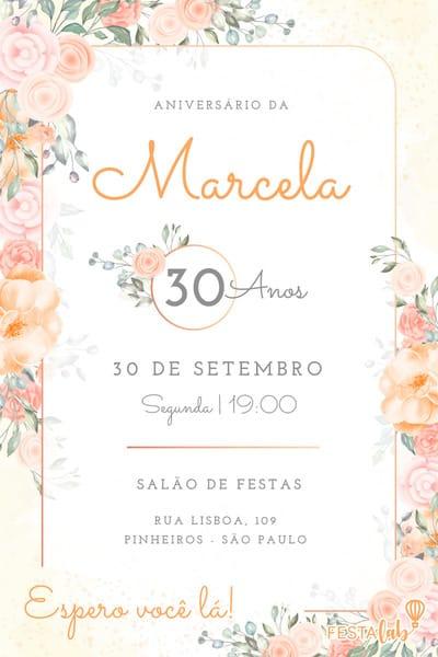 Convite Flores