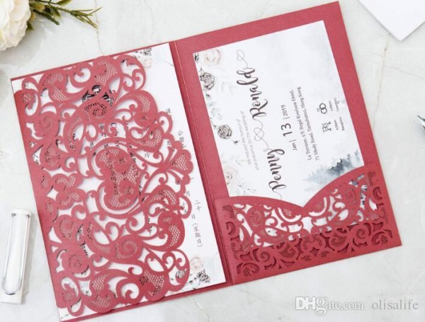 Impressão De Convites De Casamento Convites De Casamento De Corte