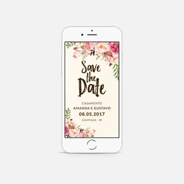 Convite Digital Save The Date Reserve A Data No Elo7