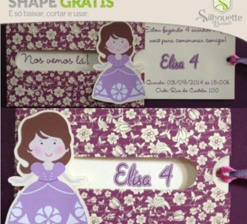 Shape 38  Convite Princesa
