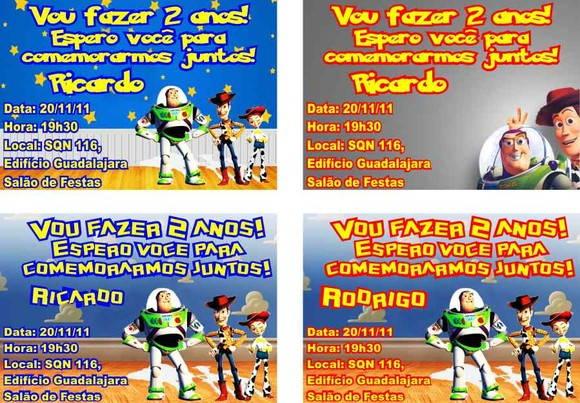 Toy Story Convite Aniversário No Elo7