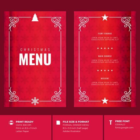 Restaurante Do Natal E Moldes Do Convite Do Menu Do Partido