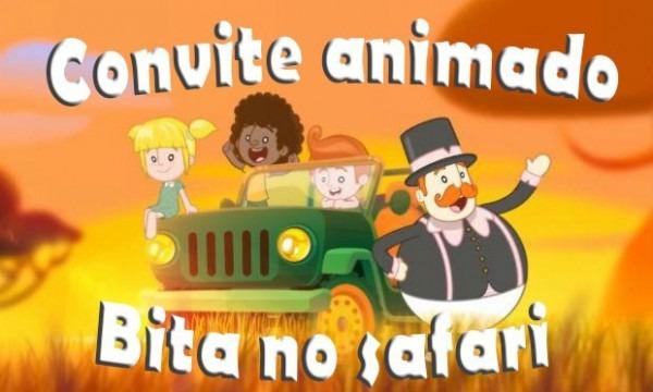 Vídeo Convite Digital Animado Bita No Safari
