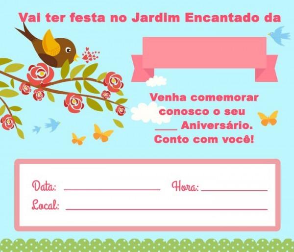 Convite Jardim Encantado