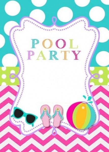 Convite Pool Party