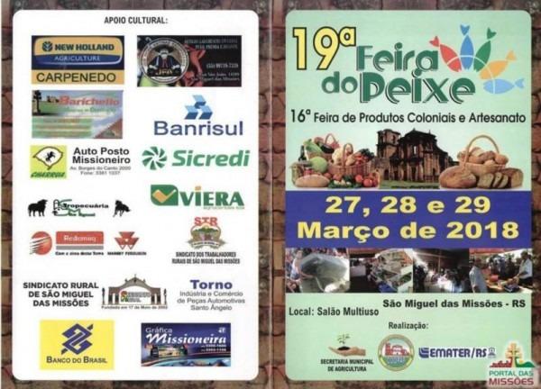 Convite 19ª Feira Do Peixe E 16ª Feira De Produtos Coloniais E