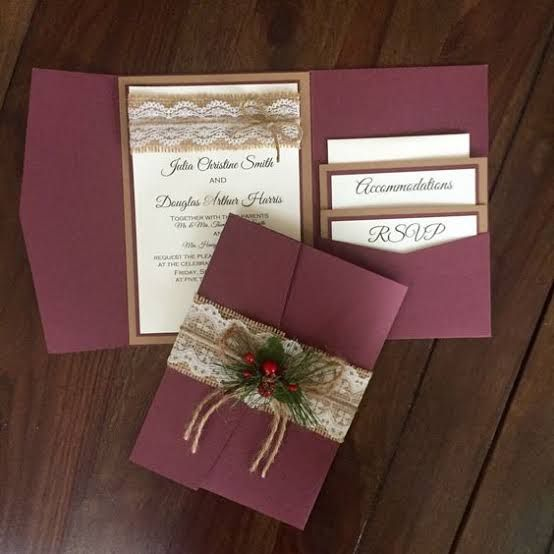 Modelos De Convites De Casamento Marsala, Baixar Arte Para Convite