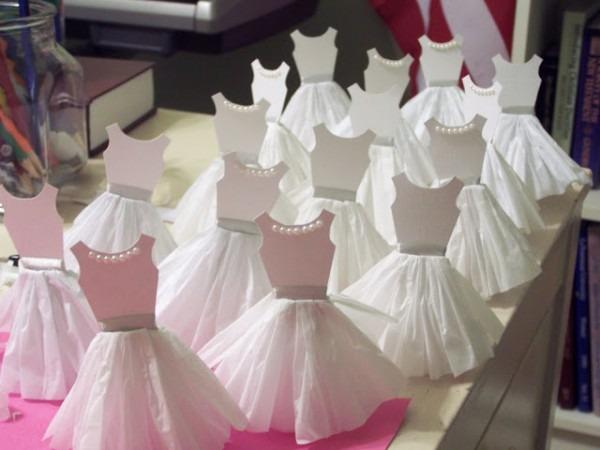 Decore  Lembrancinhas Formato Vestido