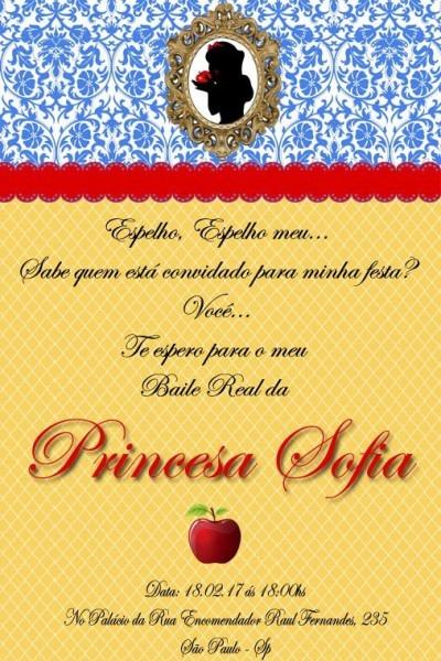 10 Convite Branca De Neve 10x15 Frete Gratis Ju Uva