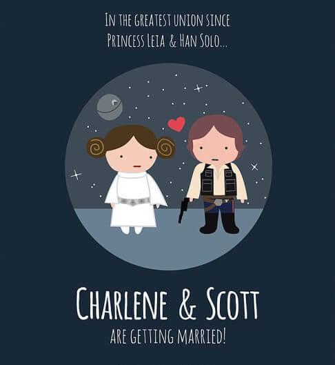 Convite De Casamento Geek