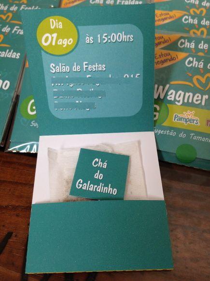 Convite Sache De Chá