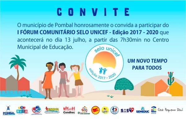 Participe Do I Fórum Comunitário Selo Unicef