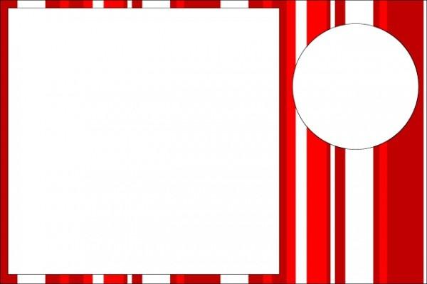 Vermelho E Branco Listras