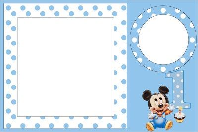 Mickey Baby Azul Poá