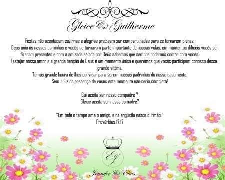 Convite Do Casamento Frases Biblicas