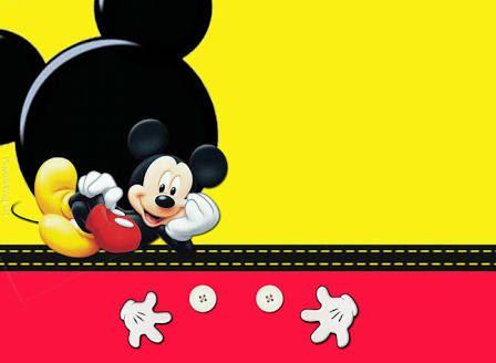 Resultado De Imagen Para Fundo Mickey Amarelo