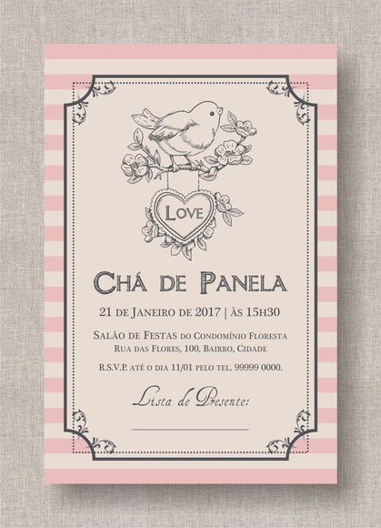Convite Digital Chá Panela Lingerie 11