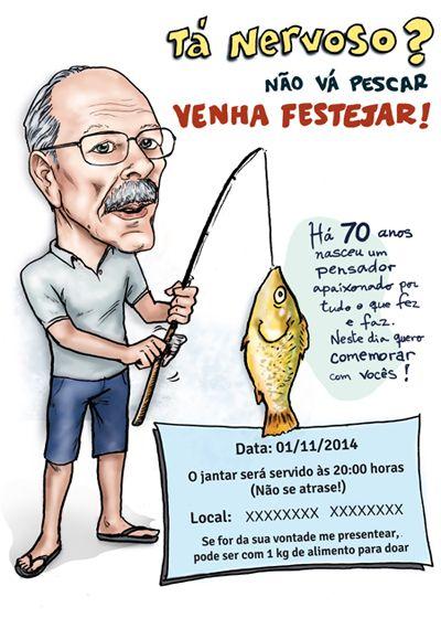 Caricatura E Arte Gráfica Para Convite De Aniversário