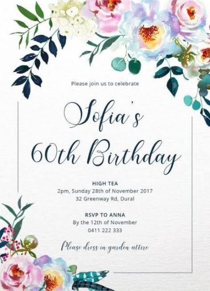 Convite De Aniversario Em Inglês 