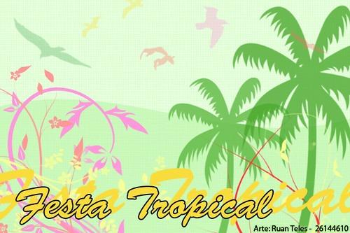 Convite Festa Tropical
