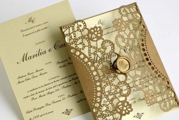 Convites De Casamento Com Corte Laser Marilia