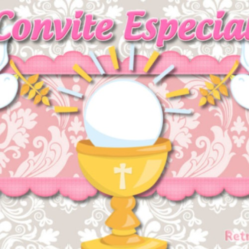 Convite Animado 1ª Eucaristia Na Rededots Com Br