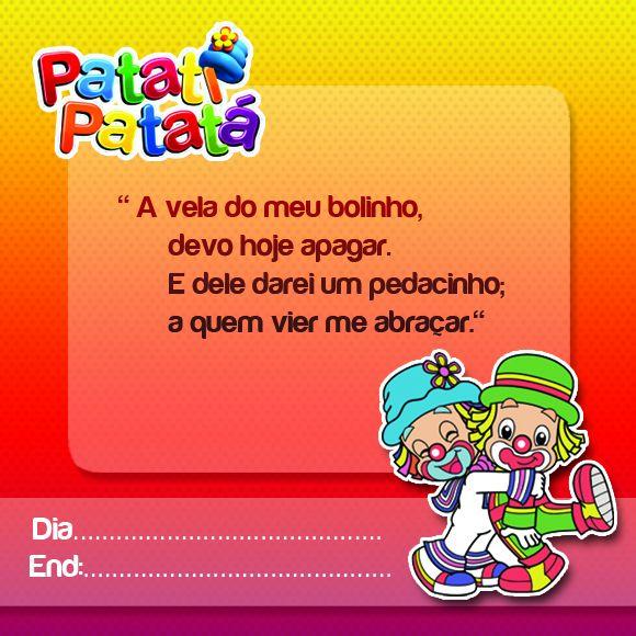 Convite Patati Patatá