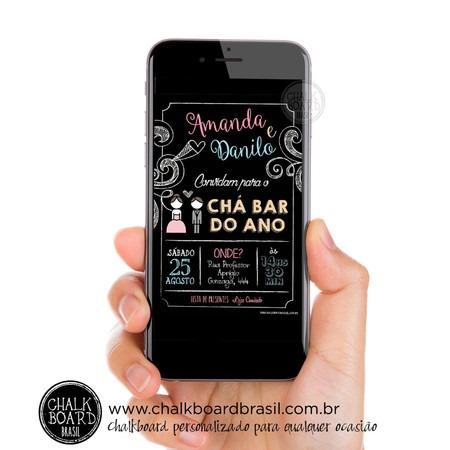 Convite Chá Bar Do Ano