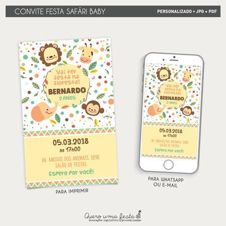Convite Festa Safári Baby