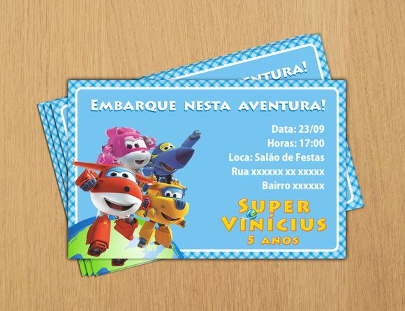 Convite Digital Super Wings