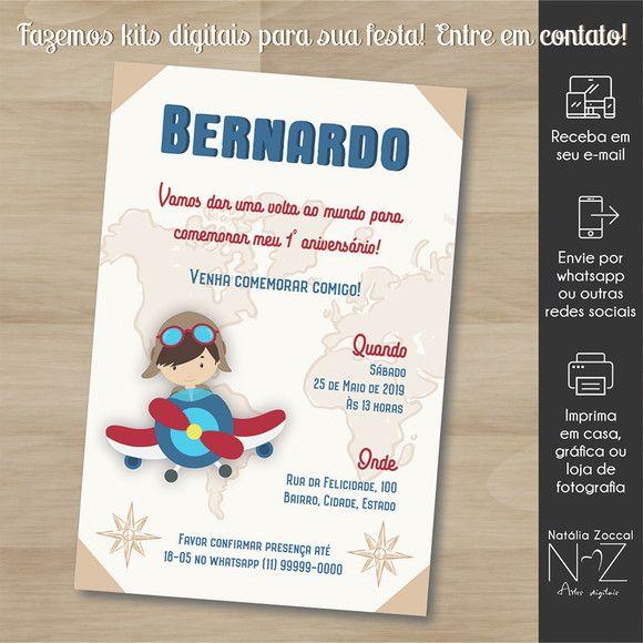 Convite Digital Volta Ao Mundo 3 No Elo7