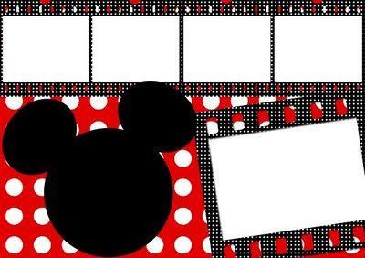 Molduras E Convites Inspirados Em Minnie E Mickey