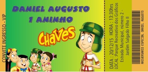 50 Convites Ingresso Vip Chaves