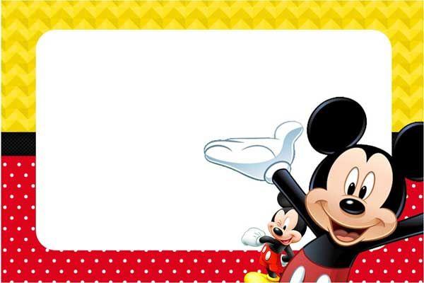 Convite Do Mickey Mouse  Modelos Para Imprimir E Editar, Como