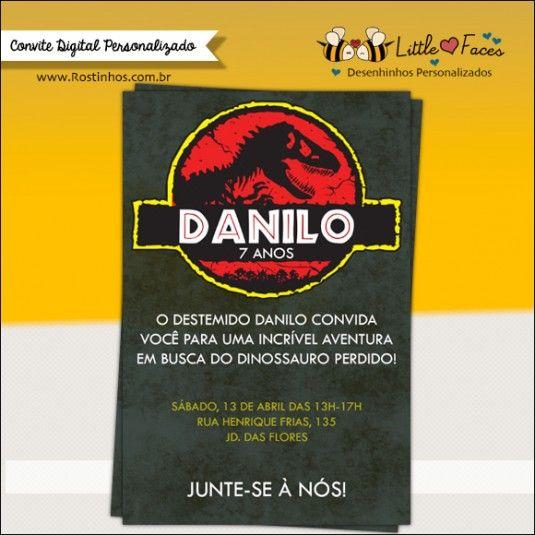 Convite Festa Jurassic Park Dinossauro Para Festa Jurássica De Seu